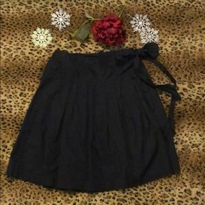 Drop waist wrap skirt